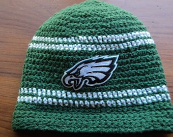 Eagles fan baby beanie