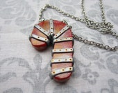 CUSTOM/RESERVED for Laura M. Steampunk'd Candy Cane Necklace RED (3)