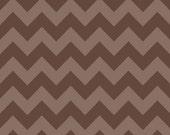 20 X 20 LAMINATED cotton fabric - Brown Tonal Chevron (aka oilcloth, vinyl, coated fabric)