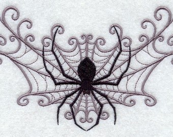 Spider Web Spray Embroidered Flour Sack Hand/Dish Towel