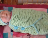 Celine Swaddle Set - PDF Crochet Pattern - Instant Download