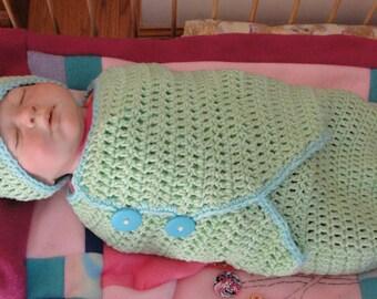 Celine Swaddle Set - PDF Crochet Pattern - Instant Download