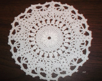 Crocheted White Doily (Item 117)