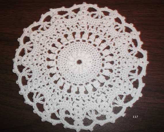 Crocheted White Doily (Item 117)