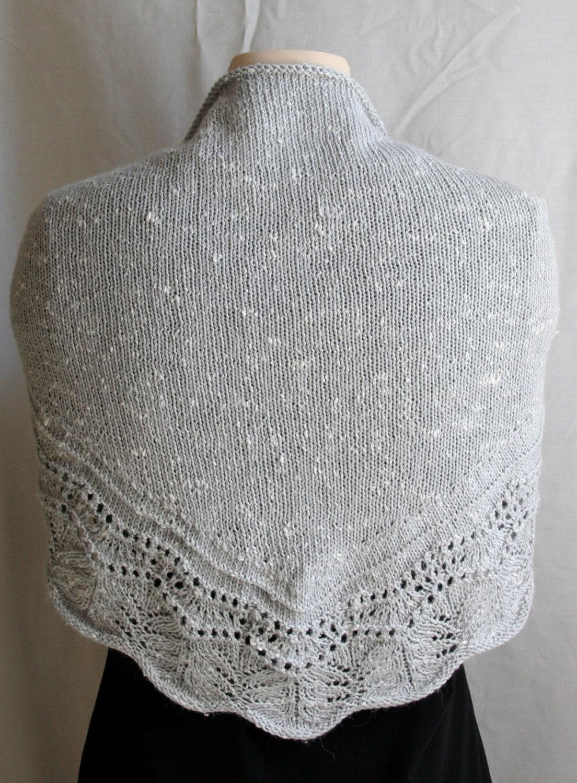 Knitting Accessories Patterns : Knitting pattern shawl crescent