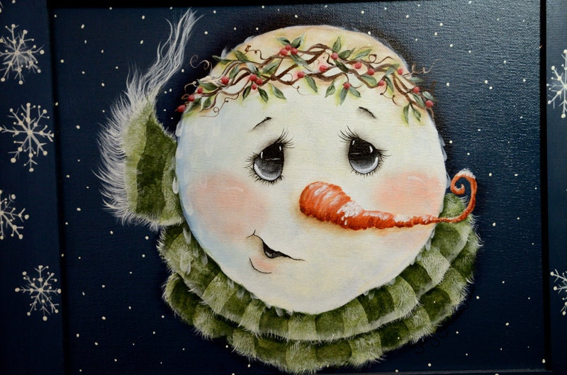 Snowman patterns to paint images for How to paint snowmen