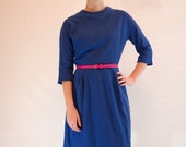 Gorgeous Deep Blue 1950s Dress