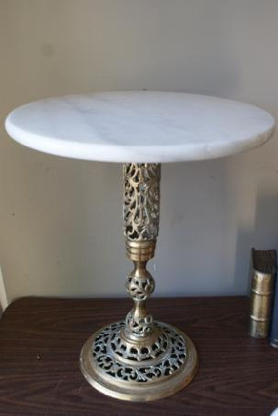 Reserved Kristin Brass And Marble Hollywood Regency Small Side