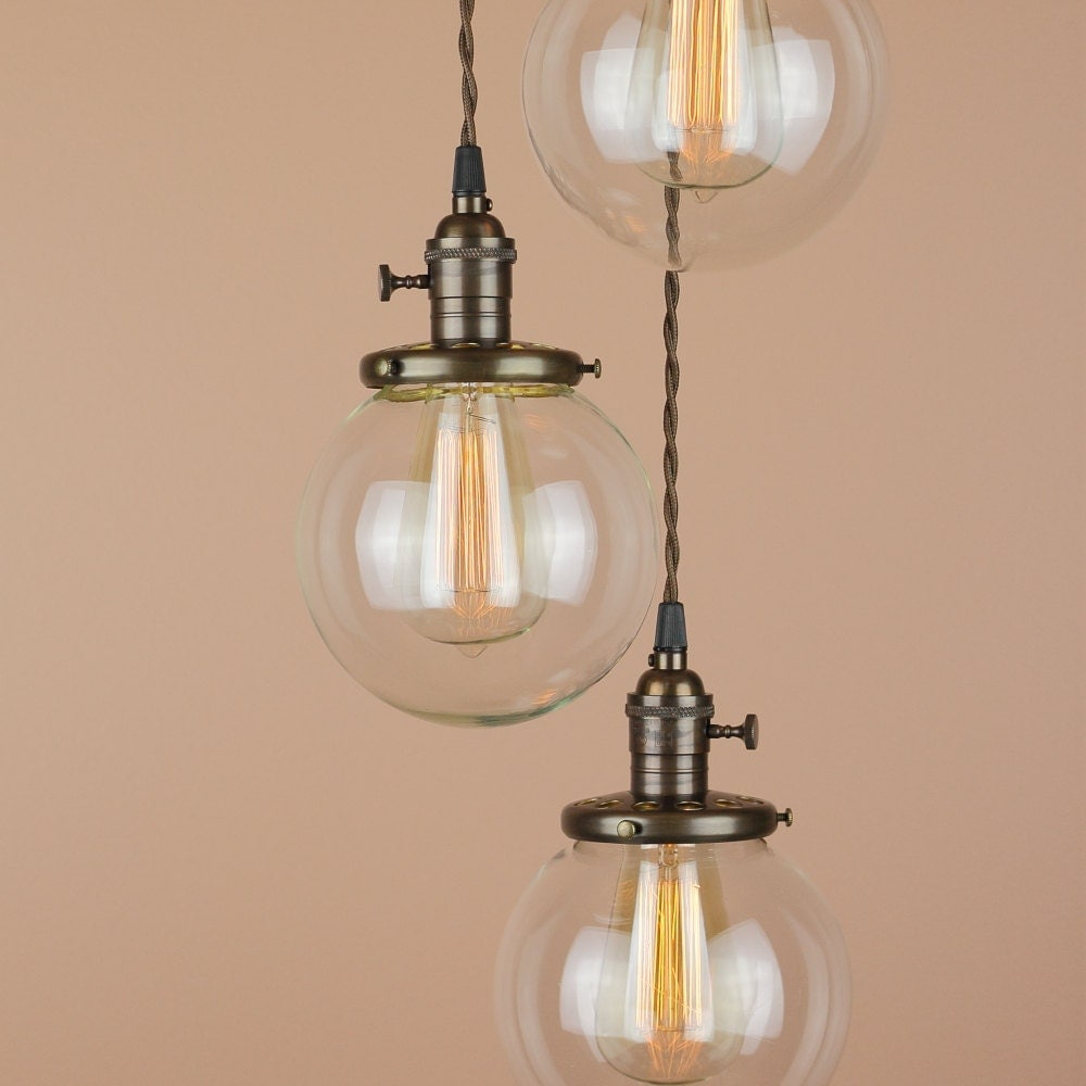 Chandelier Lighting Glass: Chandelier Lighting Pendant Lights W/ 6 Inch Clear Glass