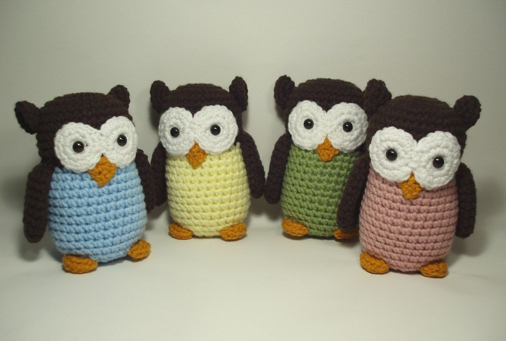 Free Owl Stuffed Cuddly Crochet Pattern : Unavailable Listing on Etsy