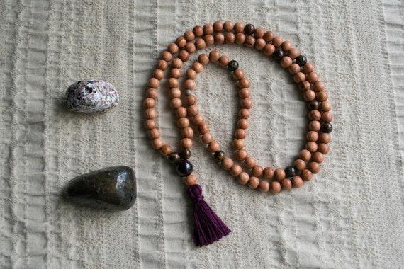 Bayong Wood Mala Beads - Yoga Jewelry -