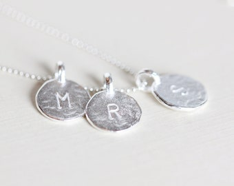 Additional Sterling Silver Initial Circle - single add-on initial