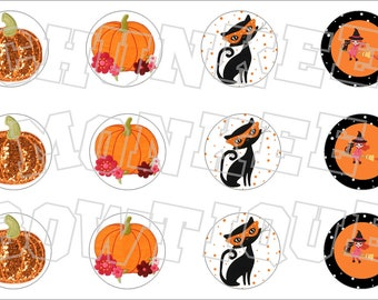 Made to Match Gymboree M2MG Halloween 2012 bottlecap image sheet