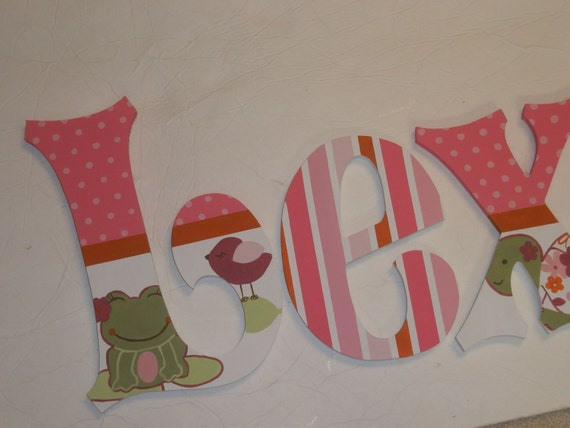Once Upon a Pond - custom - hand painted - wooden wall letters for nursery