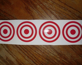 "set of 4 Potty training targets potty training decals set of 4 targets laminated vinyl decal 3"" round free postage"