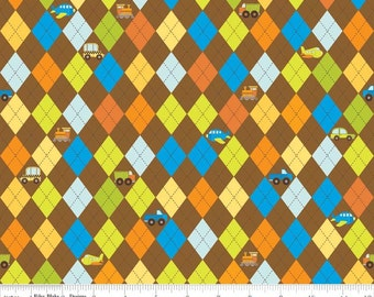 SALE - On the Go - Argyle brown by Bo Bunny from Riley Blake
