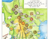 Three Hares Map of Devon