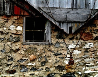 Rustic Barn Pulley Field Stone Barn Country Chic