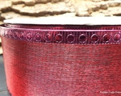 "CLEARANCE!! Christmas Wired Ribbon 2 1/2"" Burgundy Metallic Semi-Sheer - THREE YARDS - Offray Valentine, Fall Craft Wire Edged Ribbon"