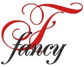 """JUMBO Fancy Script Machine Embroidery Font - Sizes 5"""",6"""",7"""", and 5x7 Hoop - BUY 2 get 1 FREE"""