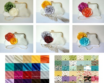 Customize your Clutch Purse- Two Color Combinations