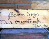 Set Of 4 Personalized Rustic Wedding Signs For Your Reception You Choose the Messages For Each Sign