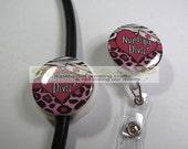 Nursing Diva - Stethoscope ID/Badge Reel Set - Nurse/Doctor Office/Hospital