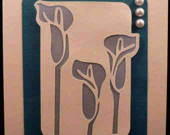Calla Lily Card SVG Cut Files and templates