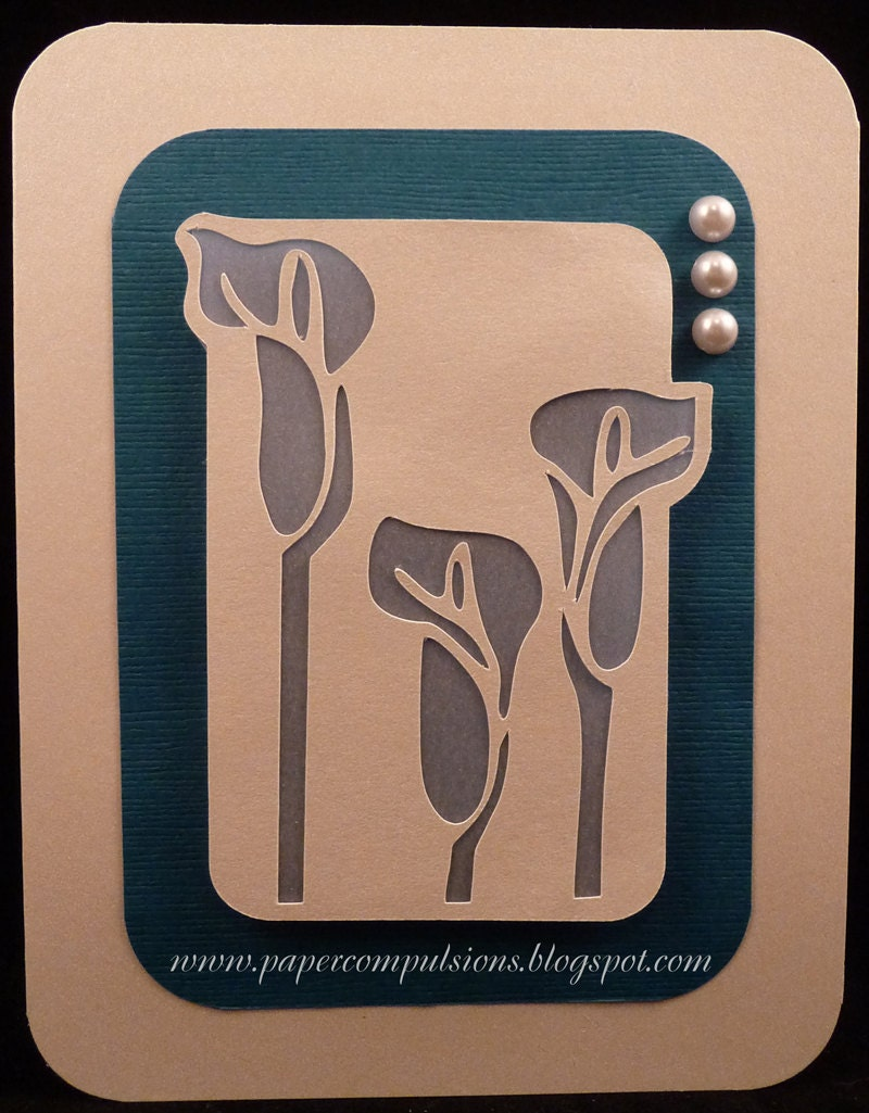 File Cards 10 Heart Svg: Calla Lily Card SVG Cut Files And Templates