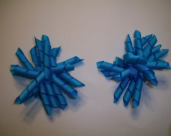 The Hair Bow Factory Turquoise Korker Hair Bows Set of 2