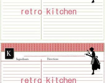 Retro Kitchen Recipe Cards