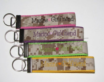 Marine Girlfriend Key Fob Many Colors Available Show Your Love