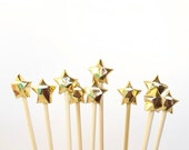 Gold Origami stars cake toppers Sparkling