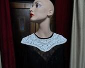 Collar, Selfridges shop girl era in cream lace.