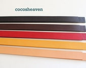 """Genuine Leather Strap / Leather Handle (1 pair: your coice of color) - 25"""" long x 1/2"""" wide"""