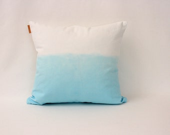 1 aqua ombre pillow cover