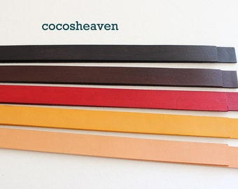 """Genuine Leather Strap / Leather Handle (1 pair: your coice of color) - 30"""" long x 1/2"""" wide (5-6 oz weight)"""
