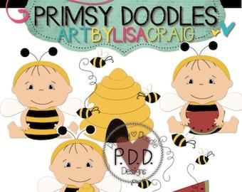 Bumble Bee Babies Cutting Files