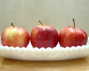 Milk Glass Relish Dish