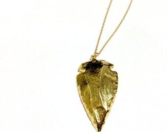 Arrowhead Necklace - Gold Jewellery - Native American Jewelry - Arrow - Southwestern