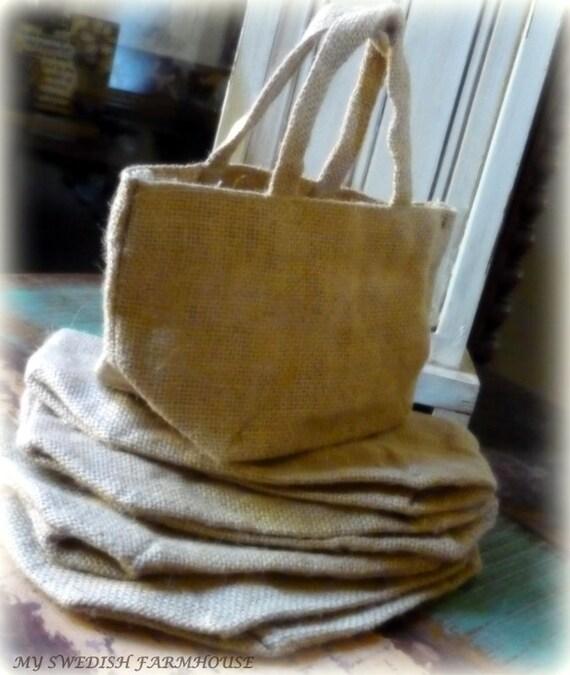 Diy Burlap Sack: Burlap Bag With Handle Favor Bags Gift Bag DIY Party