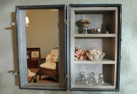 Custom Designed Suitcase Vanity / Medicine Cabinet