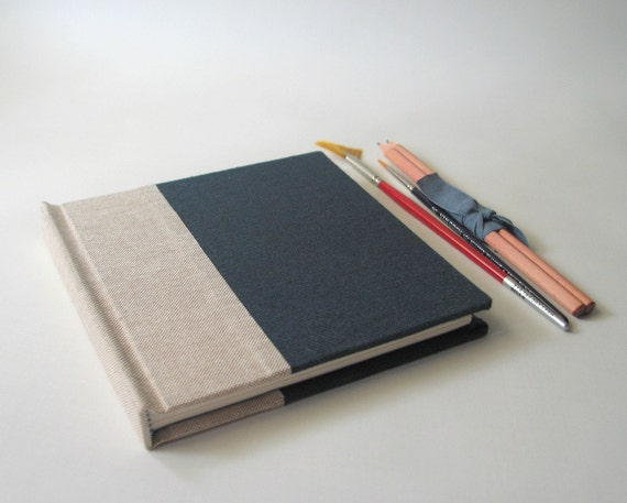 Handmade Almost Square Sketchbook - Working Man