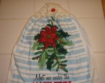 Mistletoe Crocheted Dish Towel (Double)