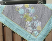 Appliqued Circles Crib Quilt-RESERVED