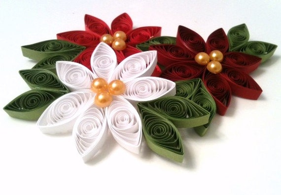 Quilled Paper Ornaments Quilled Flower Ornaments