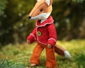 Felix the Fox PDF pattern, Felt fox ornament, Felt Animal - Fox sewing pattern, hand-sewing, beginner sewing, DIY sewing, fantastic fox