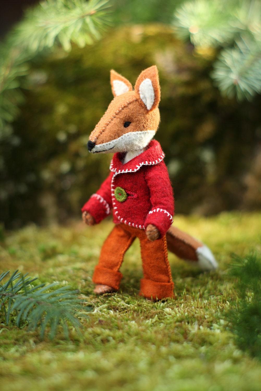 6Felix the Fox PDF pattern, Felt fox ornament, Felt Animal ...