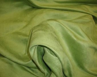 """60"""" Wide Kiwi Polyester micro faux suede upholstery fabric by the yard"""