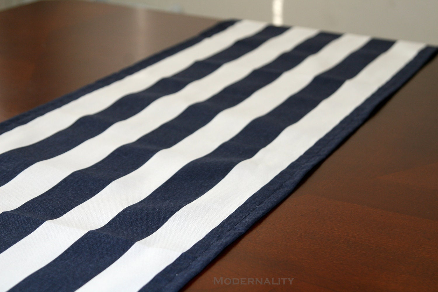 Striped Table Runner Premier Prints Navy Blue By Modernality2